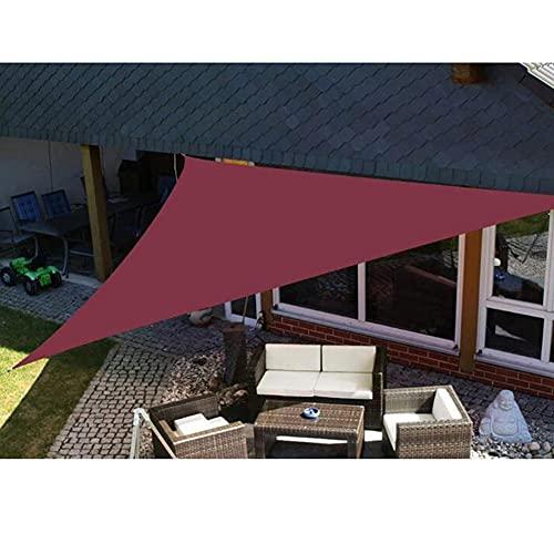 LIUNA Triangle Sun Shelter Shade Spade, Toldos De Cuerda Romántico Al Aire Libre Cálido A Prueba De Agua Gazebo Jardín De Jardín Vela Toldo, Toldo Sombra Sombra Sol Al Aire(Size:5X5X5M,Color:F)