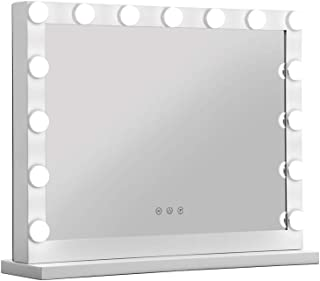 Embellir Makeup Mirror Dressing Tbale With Light Hollywood 15 LED Bulbs Vanity Lighted Stand