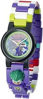 LEGO Batman Movie 8020851 The Joker Kids Minifigure Link Buildable Watch | Purple/Green | Plastic | 25mm Case Diameter| Analog Quartz | Boy Girl | Official