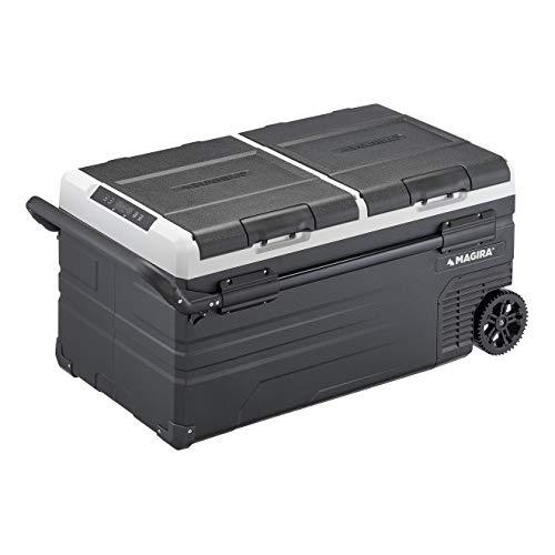 MAGIRA Canada 95 Liter Kompressor-Kühlbox Zwei Zonen 12/24V und 230V MF95-CA elektrischer Mini-Kühlschrank für Camping, Auto oder LKW