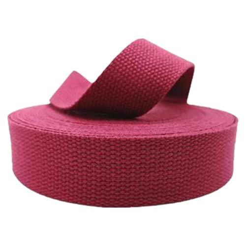 DTKJ 10 yardas 25mm/38mm poliéster algodón lona cinturón correas mochila accesorios bolsa hacer costura DIY artesanía, rosa (b), 25 mm,