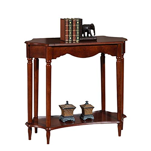 OuPai Table Console Table,2 Tier Solid Wood Entrance Table Assembly Entrance Cabinet Livingroom Sofa Table with Storge Decoration Table 34 × 14 × 31 Inch for Living Room Bedroom