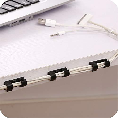 maison et bureau Blanc Toolstar Lot de 20 clips de c/âble auto-adh/ésifs pour voiture
