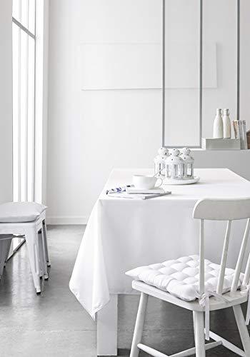 Today Nappe Coton 140/240 Chantilly Coton Blanc 140 x 240 cm
