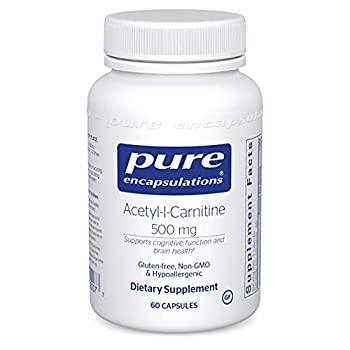 Pure Encapsulations Acetyl-l-Carnitine 500 mg | Memory Supplement for Brain Focus and Calmness* | 60 Capsules