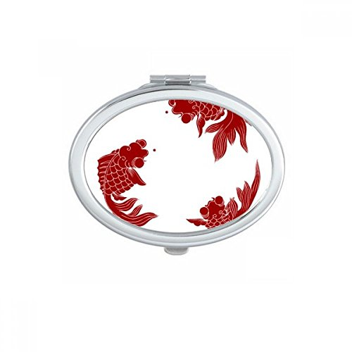 DIYthinker Dolphin Big Petit Ovale Makeup Compact Miroir de Poche Portable Mignon Petit Miroirs Main Cadeau Multicolor
