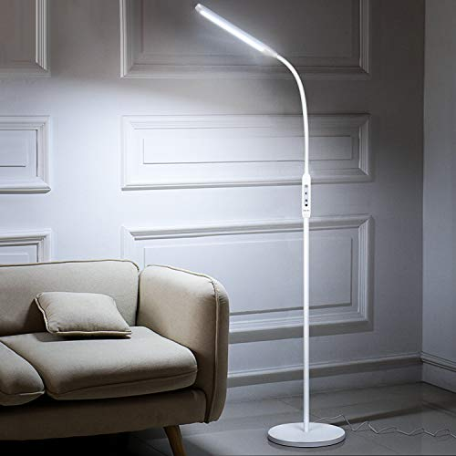 Albrillo LED Floor Lamp, Dimmable Standing Light with Remote Control and Timer, 5 Brightness Levels & 5 Colors ,1800lm , Modern Reading Adjustable LED Floor Light, for Living Room Bedroom Office
