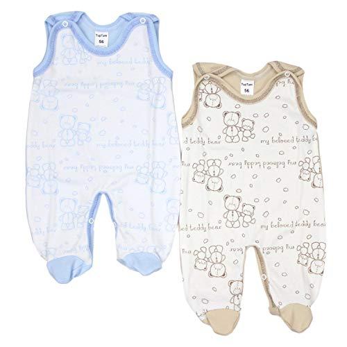 TupTam TupTam Unisex Baby Strampler Baumwolle Gemustert 2er Set, Farbe: Farbenmix 6, Größe: 56