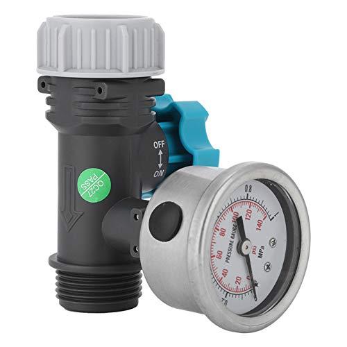 Nannday Regolatore di Pressione dell'Acqua del Sistema di Controllo Regolabile Riduttore di Pressione da 4,7 cm / 1,9 Pollici per Giardini in Serra Cortili Prati