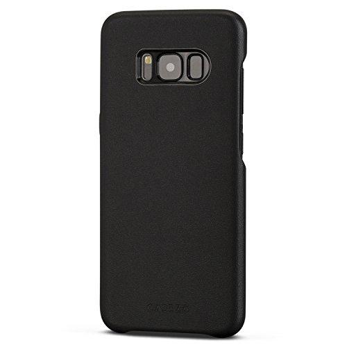 Funda Galaxy S8 Negra - CASEZA Rome Piel PU Case Negro Cover Carcasa Tapa Trasera Piel Vegana Premium para Samsung Galaxy S8 (5.8') Original - Ultrafina Protección Completa