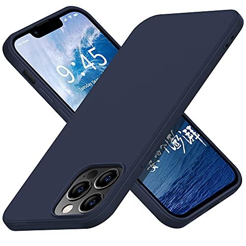 X-level Funda para iPhone 13 Pro Max, [Serie Dynamic] Ultra fina, de silicona, antigolpes, compatible con Apple iPhone 13 Pro Max, color azul