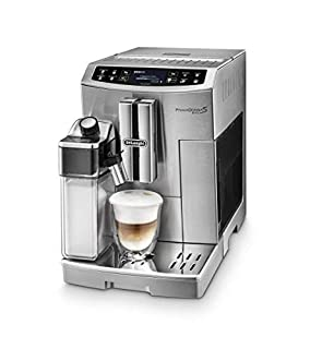 De'Longhi PrimaDonna S EVO - Cafetera Automática Controlable desde Smartphone, Espresso y Cappuccino, Pantalla LCD Táctil, Sistema Latte Crema, Limpieza Automática, ECAM 510.55.M, Plata (B071QY4NHW) | Amazon price tracker / tracking, Amazon price history charts, Amazon price watches, Amazon price drop alerts
