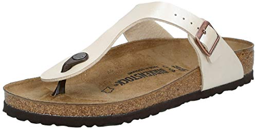 Birkenstock Gizeh Birko-Flor Graceful Pearl White Birko-Flor 40 (US Women's 9-9.5) Narrow