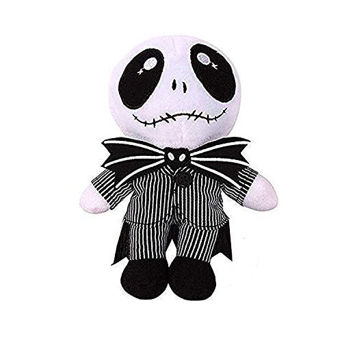 Alier Jack Skellington Plush Doll Nightmare Before Christmas Pumpkin King Plush Stuffed Baby Toy Dolls - 9.5 Inches