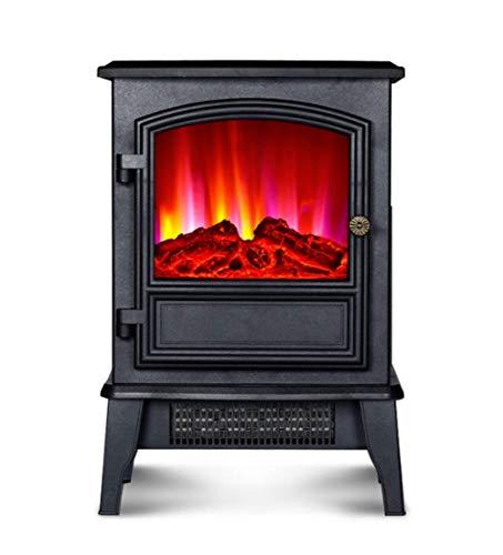 WYZXR Estufa eléctrica para Chimenea con Efecto de Llama 3D 2 Modos de Calentamiento 2000 W Salida ultrapotente Brillo de Llama Ajustable protección contra sobrecalentamiento Calentador de Chimenea i
