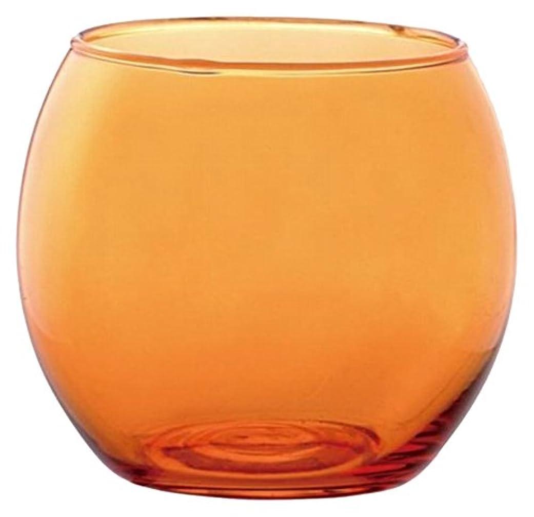 増強する急いで豊富なカメヤマキャンドルハウス スフィアキャンドルホルダー  オレンジ