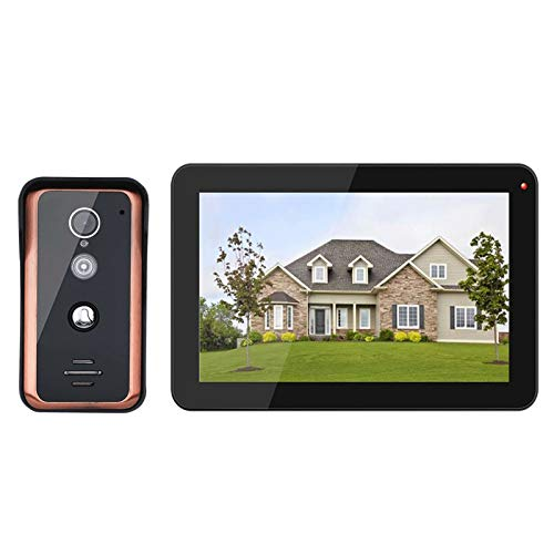 DNAMAZ Portero Sistema de intercomunicación de Video IP Inteligente WiFi inalámbrico de 9 Pulgadas, Monitor 1x con cámara de teléfono con Cable de 1x720p automatico