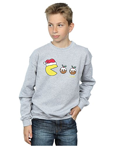 Pacman Jungen Christmas Puddings Sweatshirt 9-11 Years Sport Grey