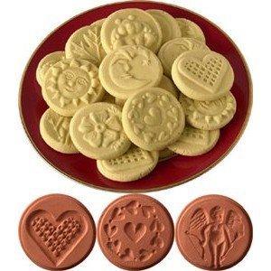 JBK Pottery Cookie Stamp Set - Love