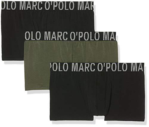 Marc O\'Polo Body & Beach Herren Multipack M-Shorts 3-Pack Boxershorts, Grün (Dunkelgrün 702), Medium (3er Pack)