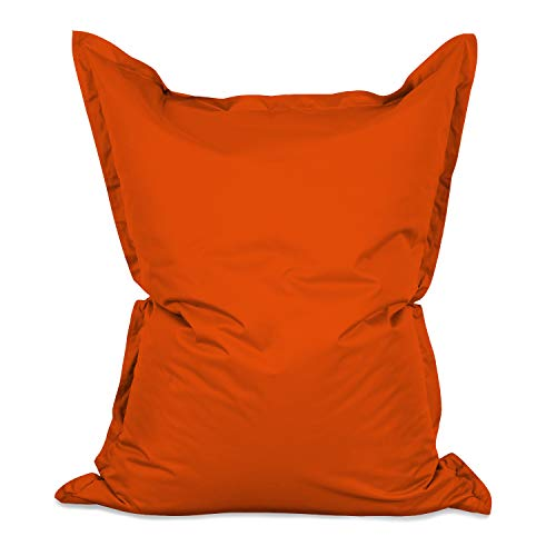 Lumaland Luxury Riesensitzsack XXL Sitzsack 380l Füllung 140 x 180 cm Indoor Outdoor Orange