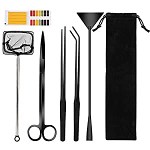 TAGVO Aquatic Plant Aquascaping Tools Kit, Stainless Steel...