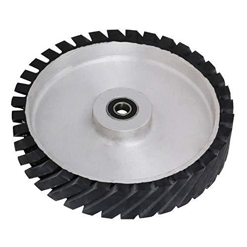 25,4 cm Gurtschleifer Gummirad YKLP gezahnte Gummi-Kontaktscheibe für Riemenmaschine Poliermaschine (Lager 15 mm)