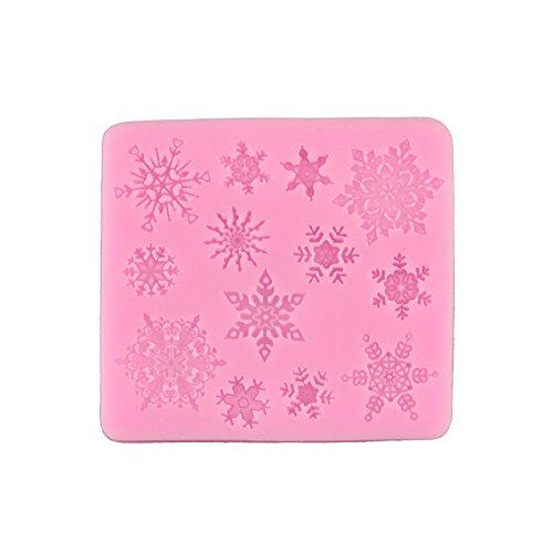 ryadia (TM) couleur aléatoire Flocons de neige Moule à gâteau en silicone Fondant savon Moule à Chocolat pour la cuisine cuisson Outils