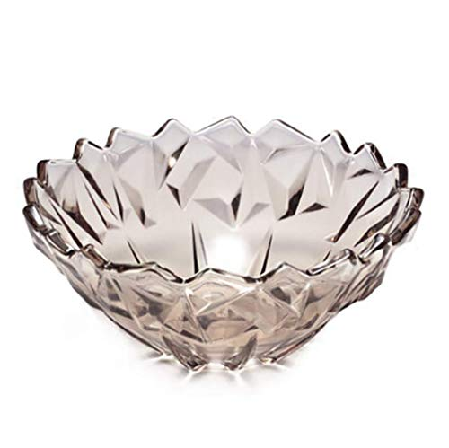KDJJH Etagere mit Obstschalen, Arbeitsplatte Obst-Etagere Kristallglas Obst-Etagere Dekorativer Obstkorb Obst Aufbewahrung,Coffee_11x24.5cm/4x10inch