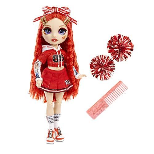 Rainbow High 572039EUC Cheer Ruby Anderson - Red Fashion Poms, Cheerleader Puppe, Spielzeug für Kinder 6-12 Jahre alt