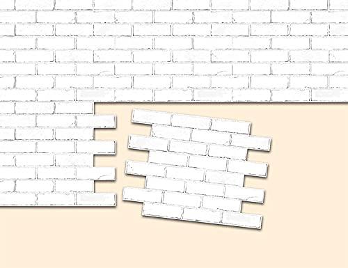 Ylight 3D Pegatinas Azulejos Pared Papel Pintado Autoadhesivo Buena Adherencia Duradera Fácil De Cortar para Sala De Estar para Dormitorio para Cocina(Blanco, 12x12in)