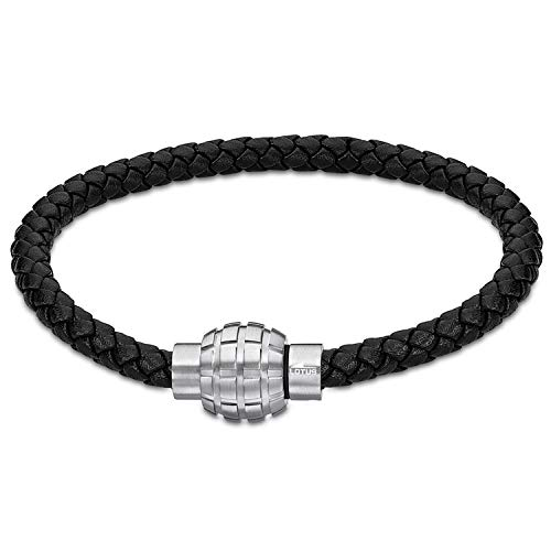 Lotus Bracelet Homme Men Basic Cuir Noir
