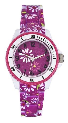 Trendy Kiddy Uhr Analog Quarz KL229–für Mädchen-Armband Kunststoff Mehrfarbig