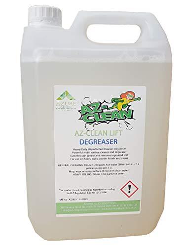 Azure Liquid Solutions Az-Clean Lift Home Fettlöser für den Einsatz auf Böden, Wänden, Dunstabzugshauben und Öfen, 5 l