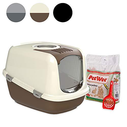 PeeWee EcoDome - Katzentoilette - Starter-Paket Braun