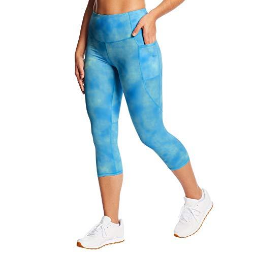 C9 Champion Women's High Waist Capri Legging, Washed Up Active Blue, XL