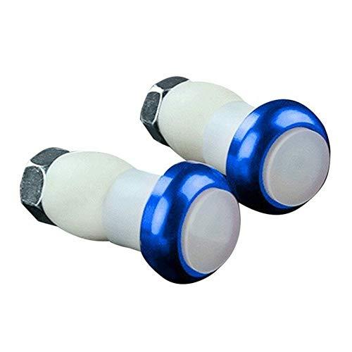 Frieed 1 par Seguridad Bici de Ciclo de la señal de Vuelta de la manija de la lámpara de la luz roja Extremo de la Barra de la manija del Enchufe LED Luz Magnética Durable (Color : Blue)