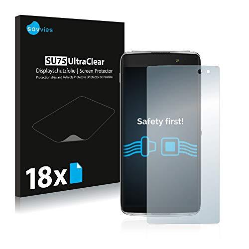 Savvies 18x Schutzfolie kompatibel mit Alcatel Idol 4 Pro Bildschirmschutz-Folie Ultra-transparent