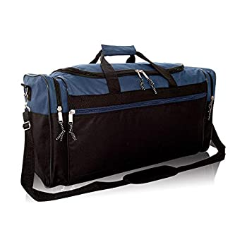 DALIX 25  Extra Large Vacation Travel Duffle Bag in Navy and Black