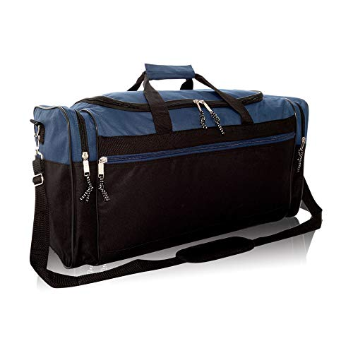 """DALIX 25"""" Extra Large Vacation Travel Duffle Bag in Navy"""