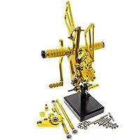 ホンダRS125GP125 RS 125 GP125に適しています CNCアルミニウムモーターサイクル三脚リアフットレストフットレストリアペダル (Color : Gold)