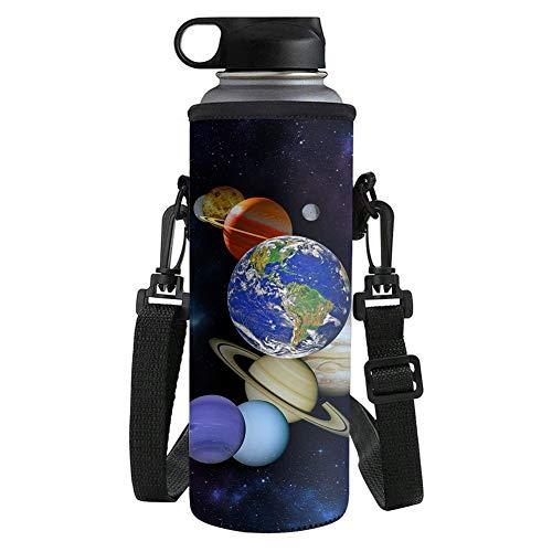 UOIMAG Sistema Solar Planetas Bolsa Portabidones Bolsa de Agua Bolsa de Neopreno Aislada Botella Titular Pequeño Tamaño 500ML