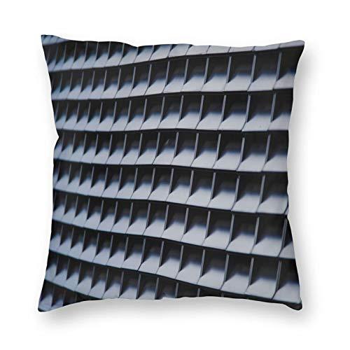 FULIYA Juego de 1 funda de cojín decorativa de algodón, funda de almohada cuadrada, decoración del hogar, para sofá, coche, dormitorio, 45 x 45 cm, textura, forma, malla, minimalismo.
