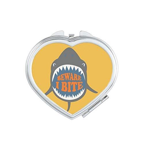 DIYthinker saltvatten haj strand festival hjärta kompakt makeup spegel rörlig söt fickspegel present flerfärgad
