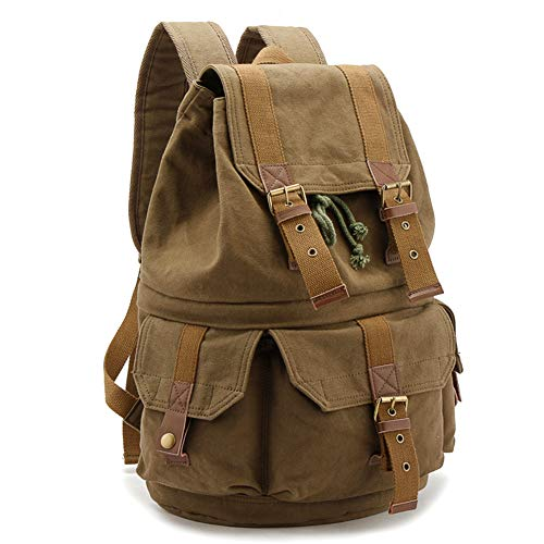 YXZN Large Capacity SLR Photography Bag Wear-resistant Canvas Outdoor Travel Leisure Camera Backpack Digital Camera Bag