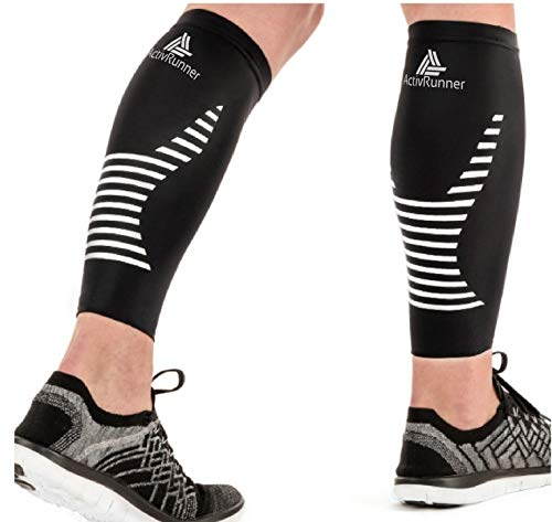 ActivRunner Calf Compression Sleeves - 2 Pairs - for Graduated Compression,...