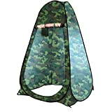 HOLOKAI Outdoor Portable Privacy Pop Up Polyester Dressing Changing Tent Pop Up Room Tent Shower Tent Toilet Rain Shelter for Camping 1 Person (Multicolour)