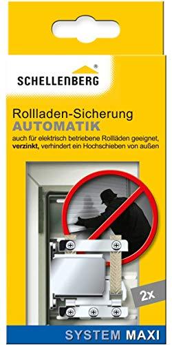 Schellenberg 16002 Rollladensicherung Automatik Hochschiebesicherung MAXI, 2 Stück