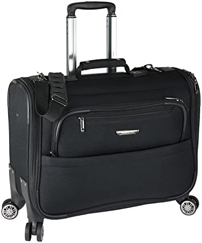 Traveler's Choice Carry-On Softside 8-Wheeled Spinner Garment Bag Luggage, Black, 21-Inch
