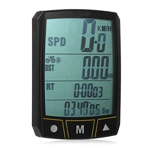FYRMMD Fahrrad-Kilometerzähler Drahtlos/Kabelgebunden Fahrradcomputer Radfahren Fahrrad Stoppuhr Sensor Wasserdicht Mit LCD-Display ODO (Stoppuhr)